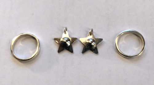 Silver RIng and star motifs by students