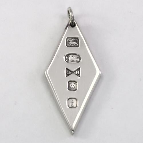 SIlver diamond shaped ingot 2018 hallmark