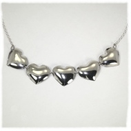 Silver hearts necklace
