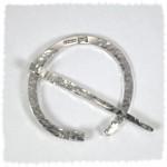 Roman style silver brooch/ toga pin/ scarf pin