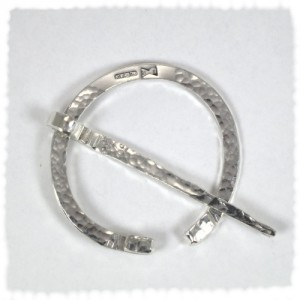 Roman style silver brooch/ toga pin/ scarf pin