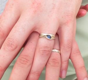 9ct White gold wedding rings