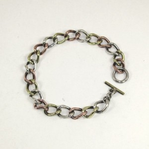 Copper/ silver/ brass chain bracelet