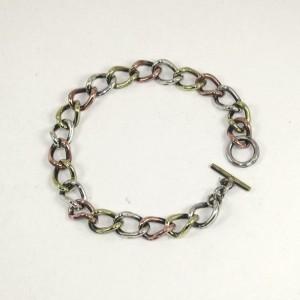 Copper/ silver/ brass chain bracelet