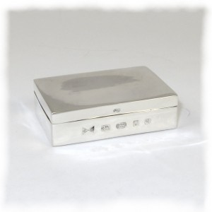 Small rectangular silver box