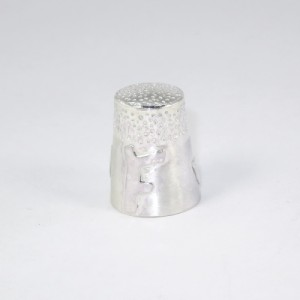 Bespoke sterling silver thimble