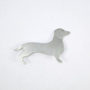 Sausage dog, dachshund sterling silver brooch