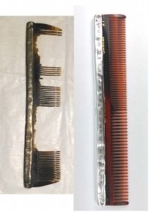 Replacing the comb in a silver cover