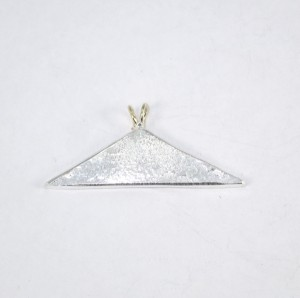 Silver volcano shaped pendant
