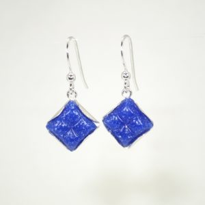 Blue mosaic tessera earrings