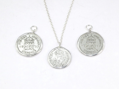 Silver coin mounts
