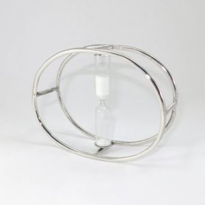 Sterling silver oval egg timer