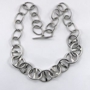 Heavy silver chain necklace
