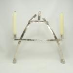 Silver cruck frame candelabra