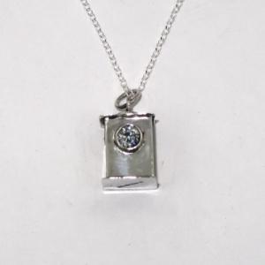 Silver lantern pendant