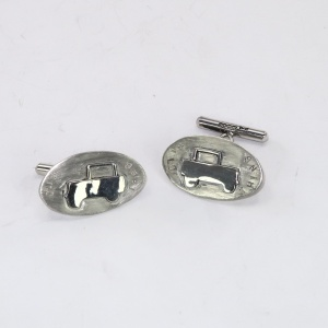 Silver landrover earrings