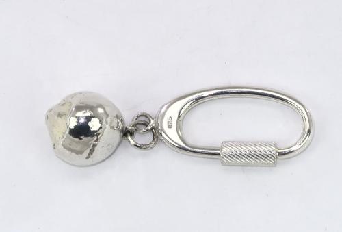 Silver hazelnut keyring  keyfob