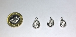 Ammonite castings in silver