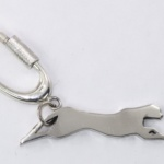 SIlver panther keyring keyfob