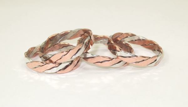 Copper silver rings