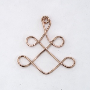 Copper yantra pendant
