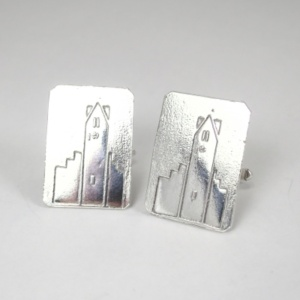 Radley Clock Tower silver cufflinks 2015