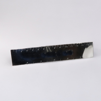 Front face triangular silver ruler