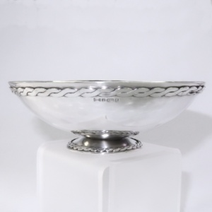 FIne silver bowl for silver wedding present