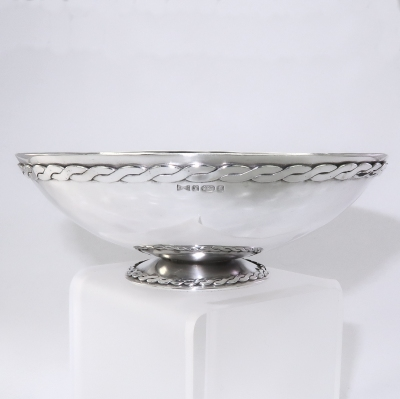 FIne silver bowl for silver wedding present