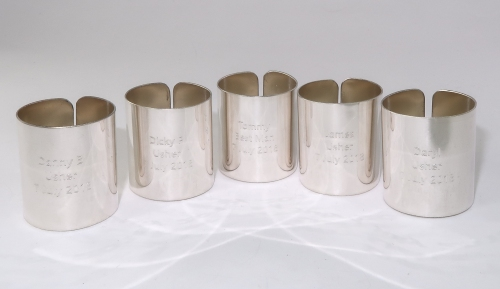 Silver scout woggles
