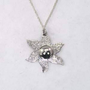 Silver St Hilda estoile pendant sparkly