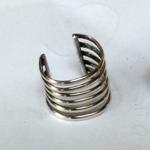Silver 6 band ear cuff