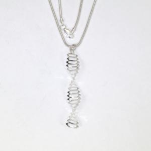 DNA silver pendant