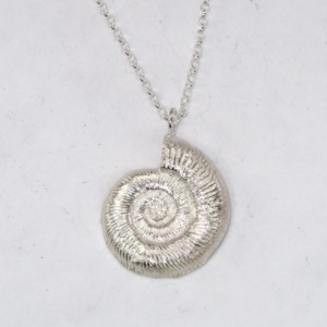 Medium solid ammonite pendant