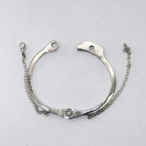 Solid silver decorative handcuff