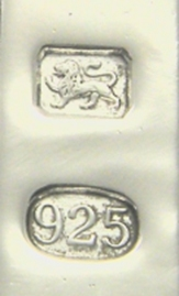 925 - sterling traditional and millesimal marks