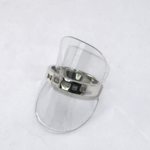 SIlver ring with external hallmarks