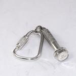 Silver bolt keyring