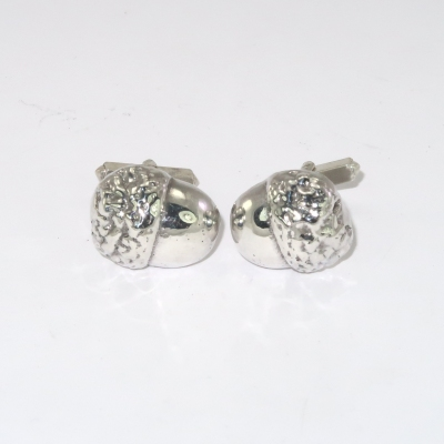 Silver acorn cufflinks