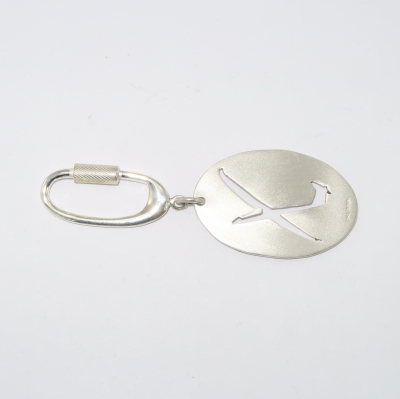 Silver glider silhouette keyring keyfob