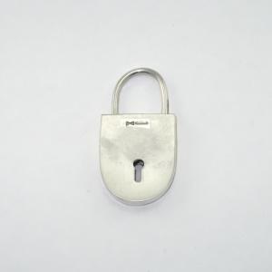 Silver padlock reverse