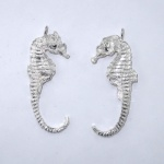 Sterling silver sea horses