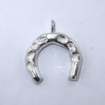 Silver horseshoe pendant