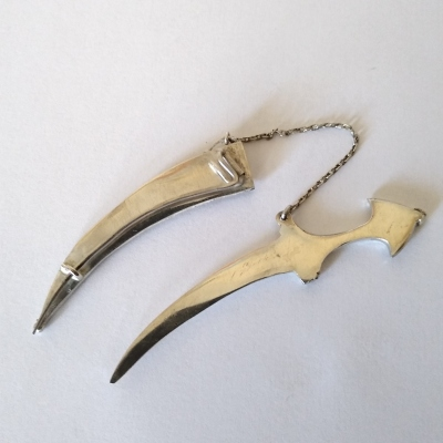 Repaired silver dagger brooch