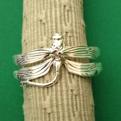 Silver dragonfly bracelet fixed