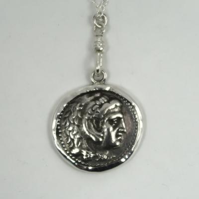 Silver roman coin mount