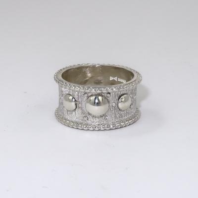 Saxon style silver ring