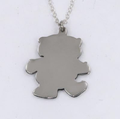 Silver bear pendant