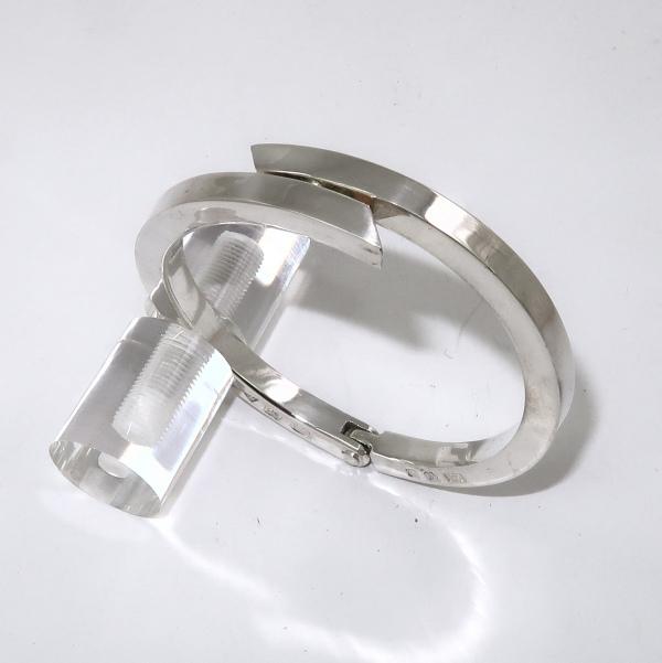 Silver split bangle